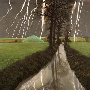 Storm Over Silbury Hill by David Inshaw (limited edition print)