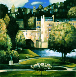 Through Parade Gardens To Pulteney Bridge, By Kevin Safe (limited edition print)