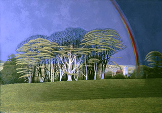 Rainbow Over Cardinham by Annie Ovenden (limited edition print)