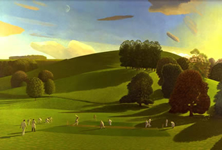 Cricket Game I by David Inshaw (open edition print)