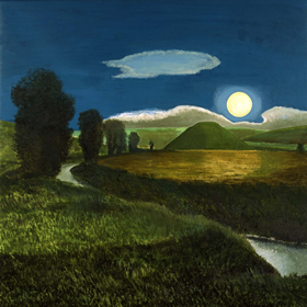 Silbury Hill by Moonlight